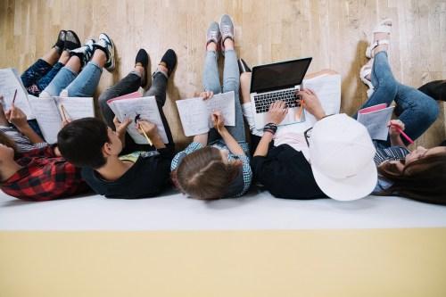 Teenagers-studying